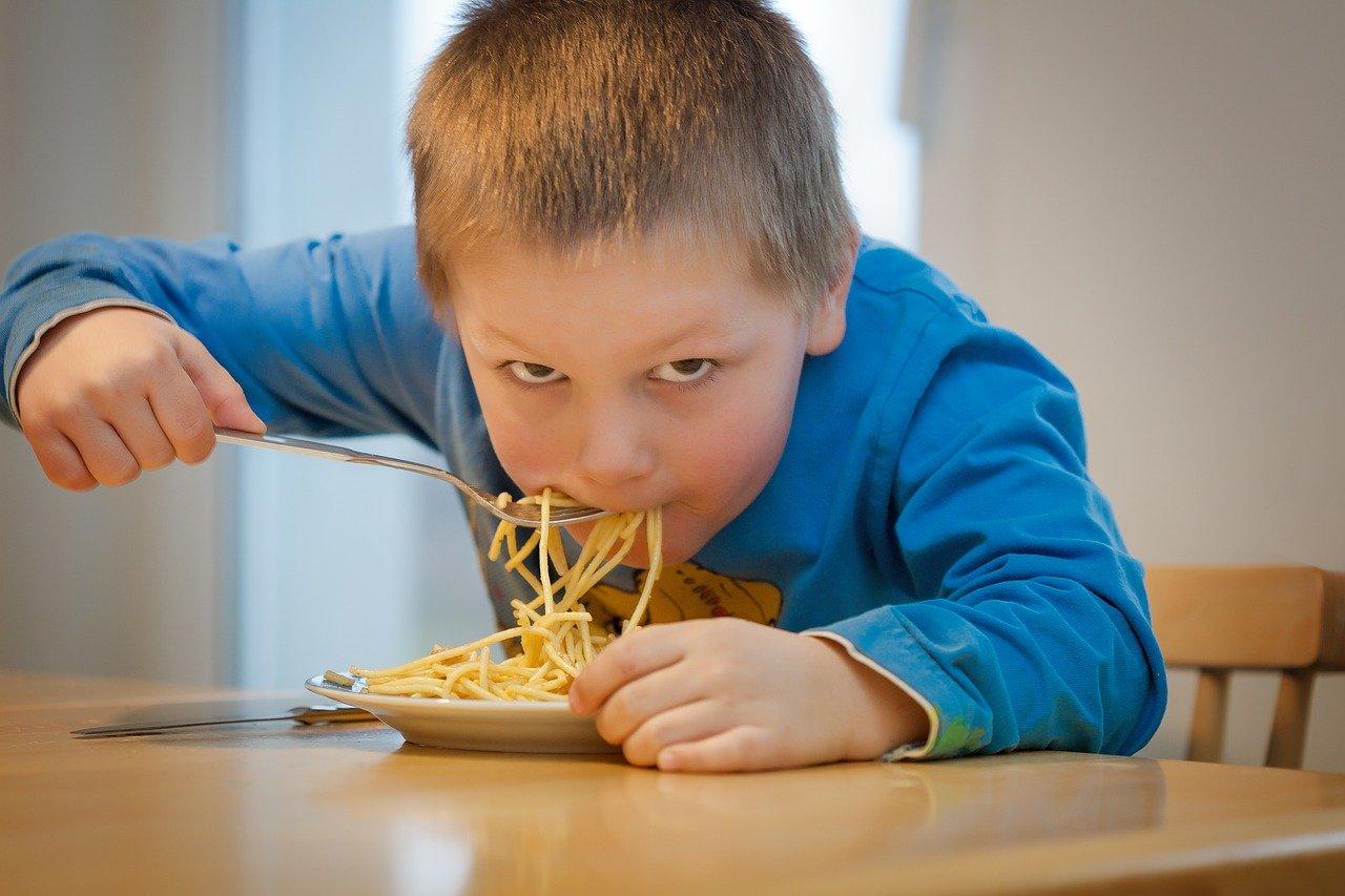 eat, noodles, children